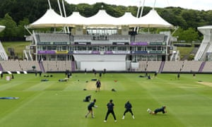 England get in some fielding practice at the Ageas Bowl, venue for the first Test against West Indies which starts on Wednesday.