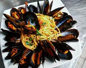 A dish from Trattoria Da Simonetta, Rome
