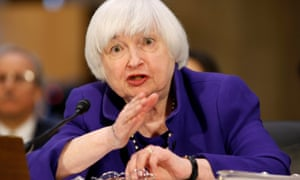 The Federal Reserve chair, Janet Yellen, gave a broadly upbeat assessment of the US economy to the Senate banking committee.