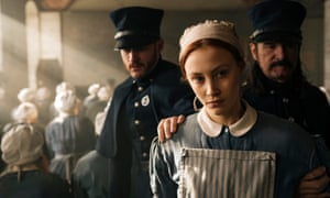Steel gaze … Sarah Gadon in Alias Grace.