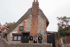 Walkers outside William Blake's cottage near Chichester