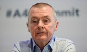 Willie Walsh, chief executive of International Airlines Group (IAG), at the Europe Aviation Summit in Brussels, on 3 March.