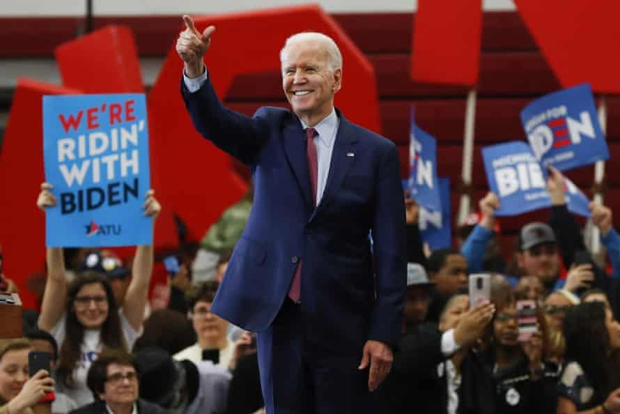 Joe Biden campaigning in Detroit in March.