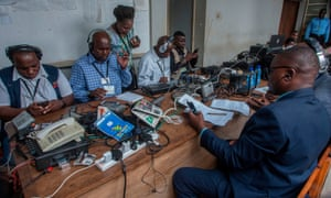 Malawian journalists covering the deliverance of the judgment on Monday