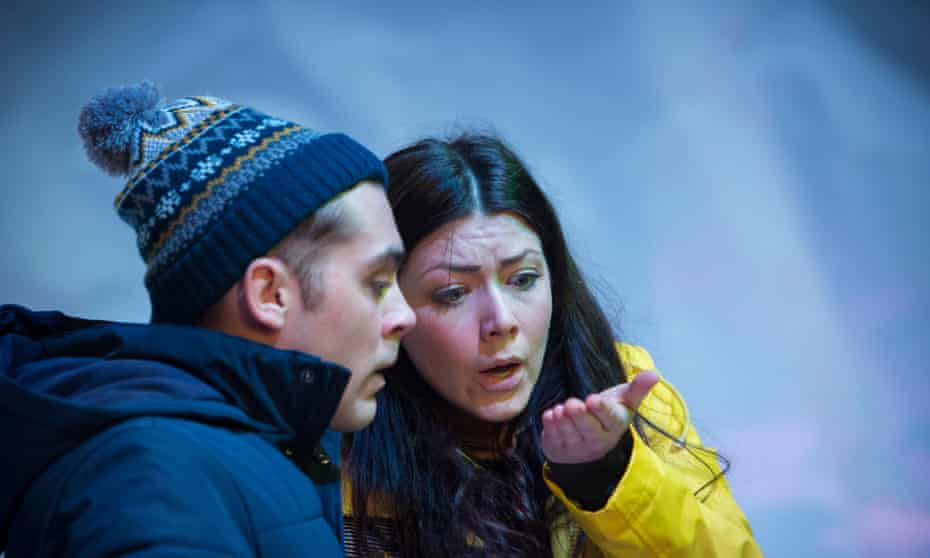 Outstanding performances … Dean Bone and Heather Carroll in The Terminal Velocity of Snowflakes.
