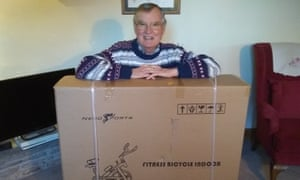 Tony Harding had expected to receive a 20kg bag of reconstituted logs rather than a £149 exercise machine.