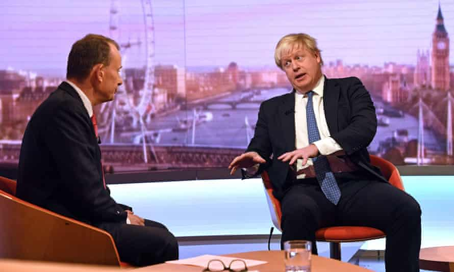 Andrew Marr (left) and Boris Johnson