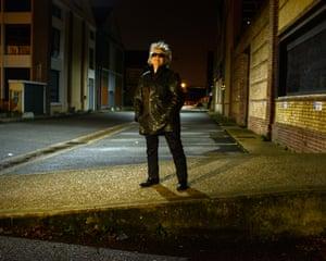 Rock singer Little Bob in Le Havre, France.