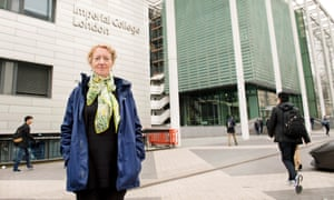 Joanna Haigh outside Imperial College London