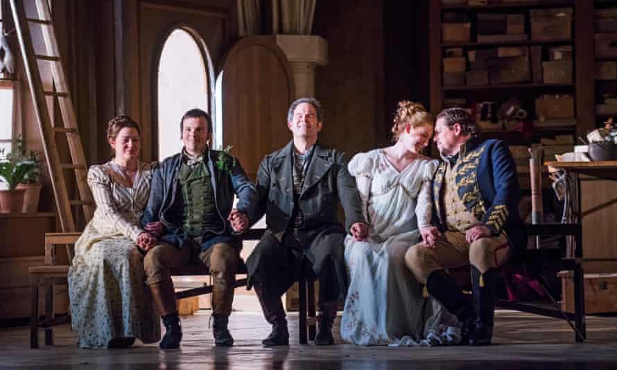 Hanna Hipp, David Portillo, Gerald Finley, Amanda Majeski and Michael Schade in Glyndebourne's Die Meistersinger von Nürnberg.