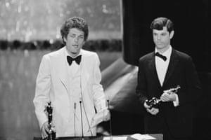 Bert Schneider at the 1975 Oscars ceremony.