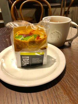 Starbucks vegan wrap