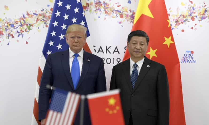 Donald Trump and Xi Jinping at the G20 summit in Osaka, Japan, in June 2019.