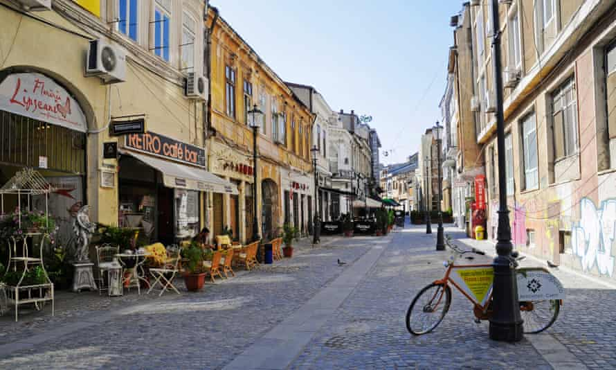 The historic Lipscani quarter of Bucharest