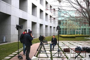 ABC News Breakfast being broadcast from the Senate courtyard of Parliament House
