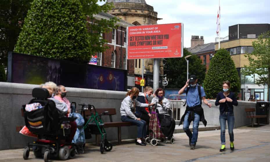 People on street in Blackburn