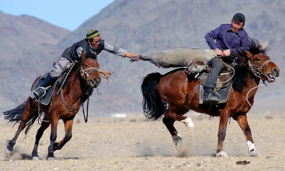 Kokpar is said to have originated with Genghis Khan's early-13th-century mounted raiders, although it may be even older