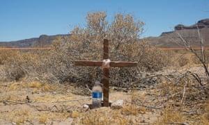 A grave in the Cabeza Prieta wilderness near Ajo, Arizona.