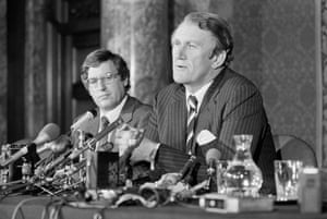 At a news conference at Australia House in London in 1980, Fraser declares that the Australian government is behind U.S. President Jimmy Carter in his boycott of the Summer Olympics in Moscow, but that the final decision over Australia's participation rests with the Australian Olympics Committee.