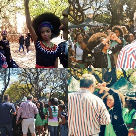 Images from the protests went viral in South Africa this weekend, under the hashtag #StopRacismAtPretoriaGirlsHigh.