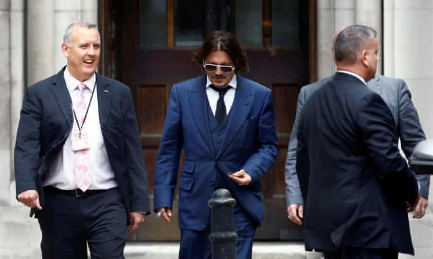 Depp leaves court