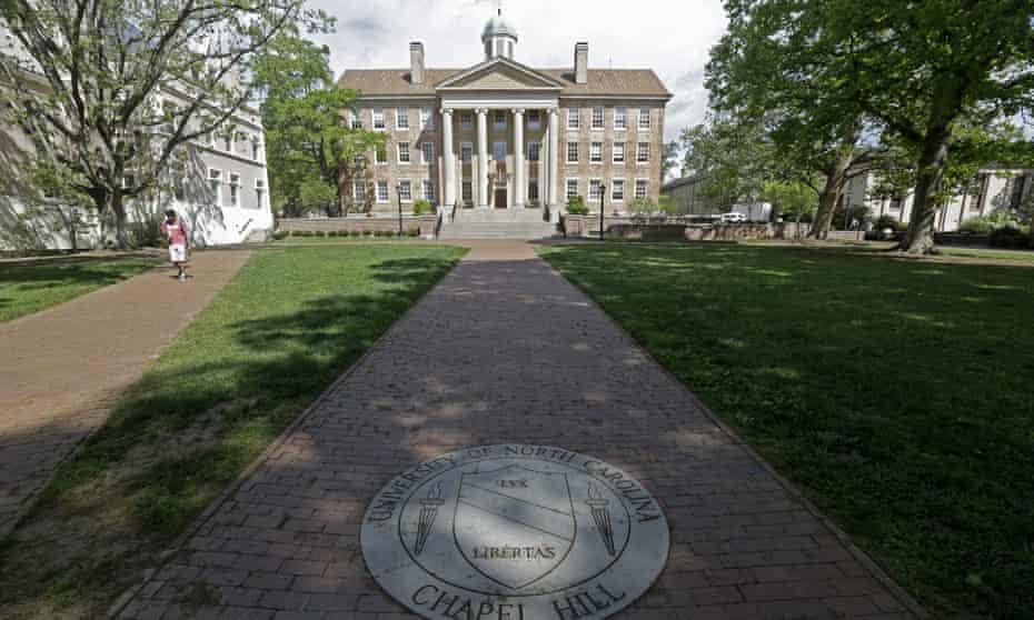 South Building at The University of North Carolina in Chapel Hill, North Carolina.