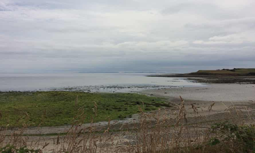 The view from Mill Quarter Bay of Killard and the Isle of Man.