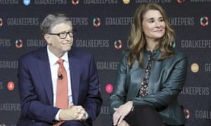 Bill Gates and his wife Melinda Gates in New York in February 2020.