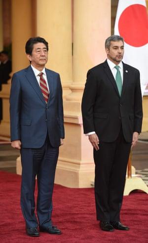 Mario Benitez and Shinzo Abe