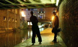 A canalside in Manchester used by the city's young male sex workers.