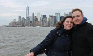 Dan Murtah and his fiancee in New York in 2016.