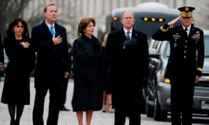 Bush, Sharon Bush, former First Lady Laura Bush and former US President George W. Bush