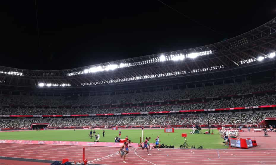 Marcell Jacobs leads home the men's 100m final.