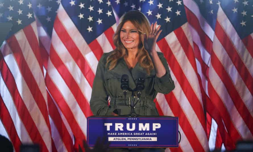 Melania Trump at a campaign event in Atglen, Pennsylvania on Tuesday.