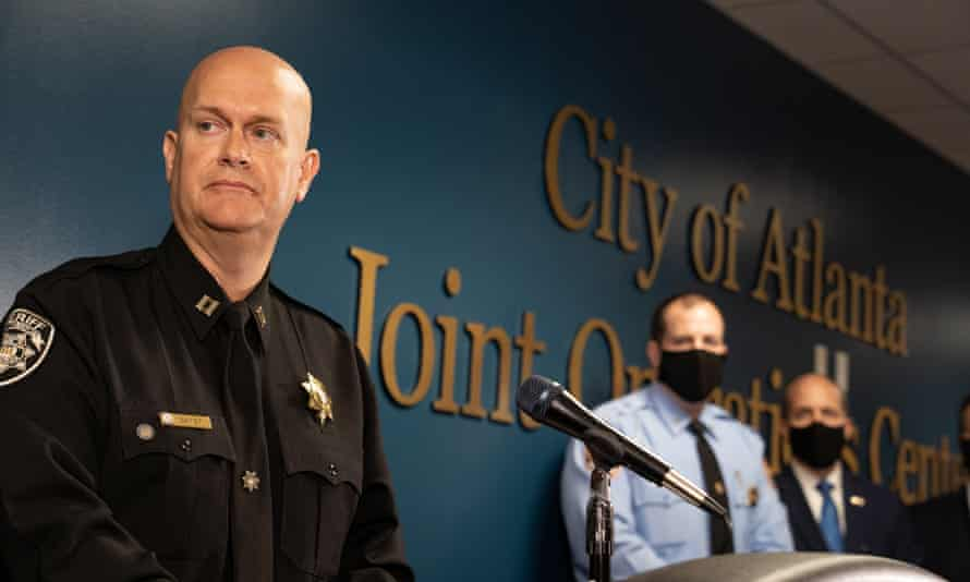 Capt Jay Baker, of the Cherokee county sheriff's office, said of the confessed Atlanta shooter: 'Yesterday was a really bad day for him and this is what he did.'