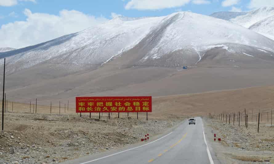A stretch of the Karakoram Highway in Xinjiang, China, a region which could be transformed by Xi Jinping's Belt and Road initiative infrastructure plans.