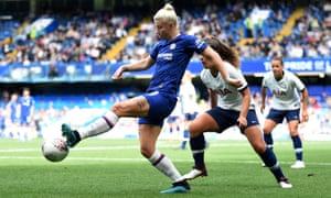 Beth England scored a goal-of-the-season contender against Tottenham at Stamford Bridge.