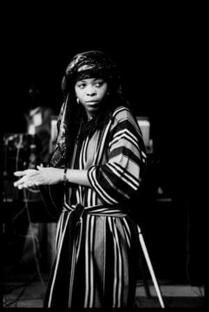 Black Uhuru brought reggae style to Glastonbury in 1982 – as seen here on singer Puma Jones.