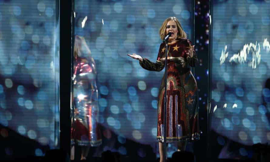 Adele performs at the 2016 Brit awards
