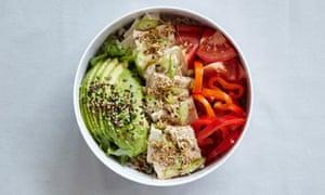 Hiya-yakko (chilled tofu bento).