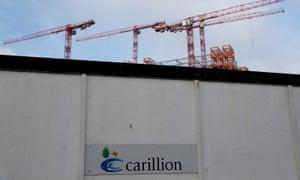 Cranes rise above Carillion's Midland Metropolitan Hospital construction site in Smethwick