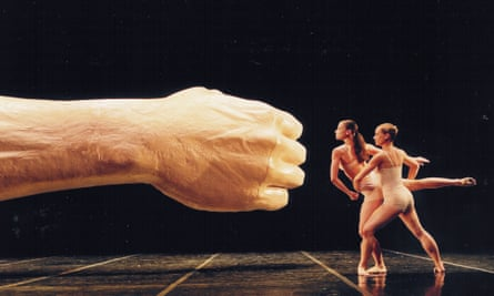 'Getting it on and off stage was touch and go' … Wanking Arm, 2000, by Sarah Lucas, which featured in Before and After: The Fall.