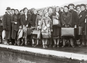 Jewish children, fleeing Nazism in Vienna, arrive in Lowestoft, Suffolk, in 1938.