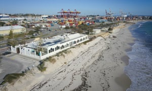 A view of Port beach in Fremantle