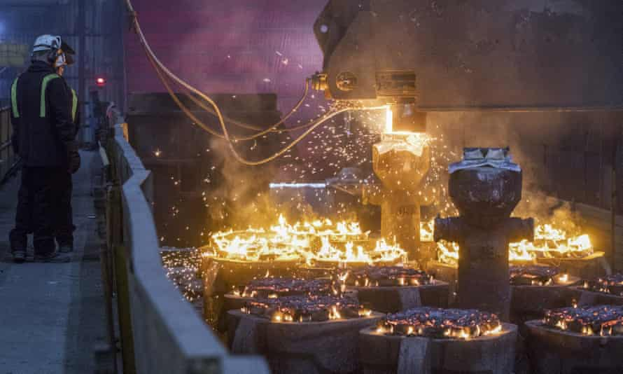 Liberty Steel's works in Rotherham, South Yorkshire