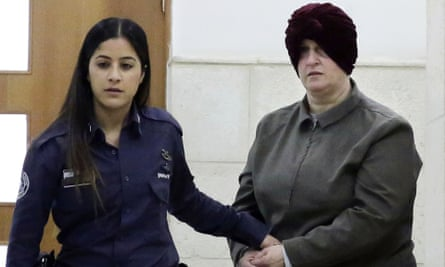 Malka Leifer is brought to a courtroom in Jerusalem on 27 February 2018