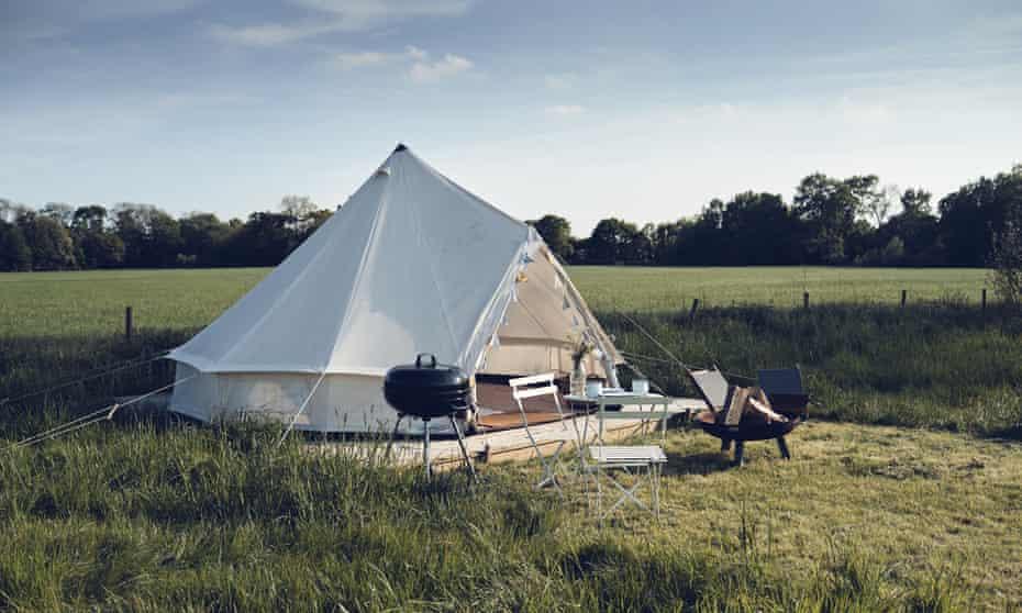 Yurt at Home Farm Glamping in Hertfordshire, UK