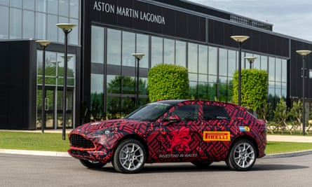 Welsh dragon: the new DBX outside the Aston Martin plant at St Athan