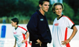 Jonathan Rhys Meyers and Keira Knightley in 2002 film Bend it like Beckham, directed by Gurinder Chadha.