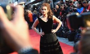 Helena Bonham Carter carries on posing for the cameras